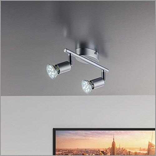2 flammig LED Deckenleuchte Strahler Deckenstrahler Drehbar Küchenleuchte Modern